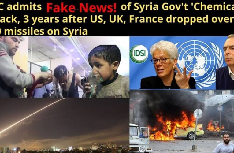 BBC admits fake news, Syria did not gas its people